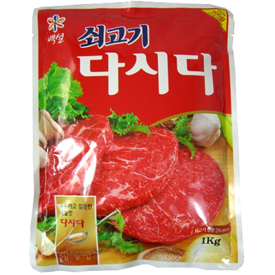 韓国調味料「牛肉ダシダ」のパッケージ