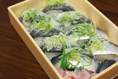 宮津「すし小銭」のいわし寿司