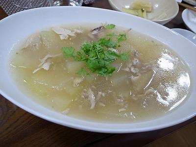 冬瓜と鶏の中華風スープ煮