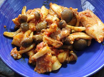 豚とシメジのメキシコ風トマト炒め煮