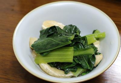 だしを引いて作った「菜っ葉の煮物」