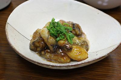 牡蛎のポン酢炒め
