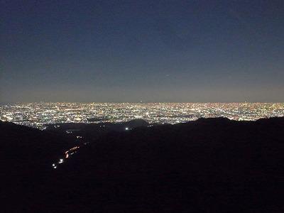 芦有道路からの夜景