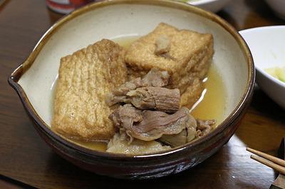 すじ肉と厚揚げの煮物