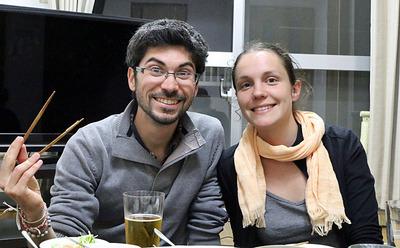 フランス人のMarieとJR