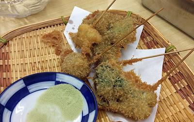 山菜の串カツ