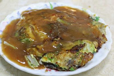 台湾名物の「牡蛎オムレツ(蚵仔煎・オアジェン)」