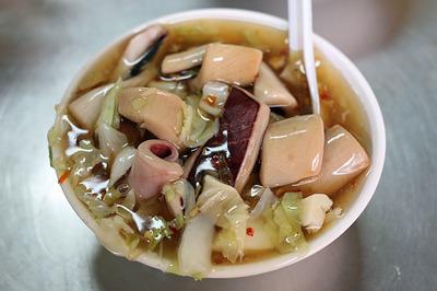 看板メニュー「生炒魷魚」イカのスープ