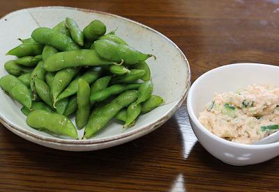 枝豆と明太子おからペースト