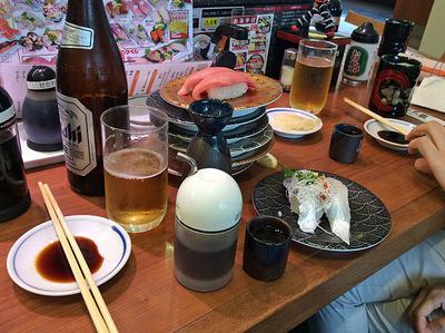 昼間から回り寿司を暴れ食い