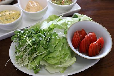 野菜もセルフサービス