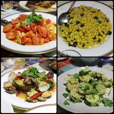 邯鄲小吃館の大将の作る料理