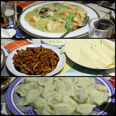 龍麺房のコースの〆は皮から手作りのギョウザ