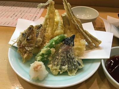 予想以上に豪華やった「きすの天ぷら」