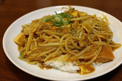 もやしの中華風カレー丼