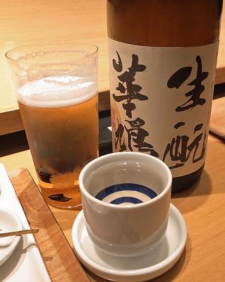2杯目のお酒「生酛華鳩」