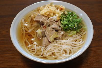 鍋の残り汁で「ねぎま麺」