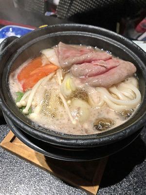 富山県砺波市の宿「三楽園」の和牛鍋