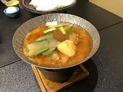 小鍋仕立ての味噌汁