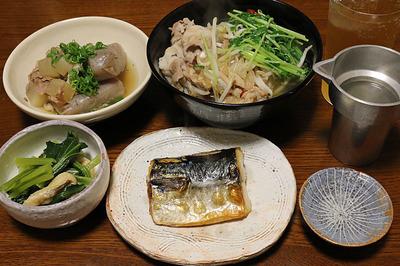 珍しく「塩鯖」がメインの晩ごはん