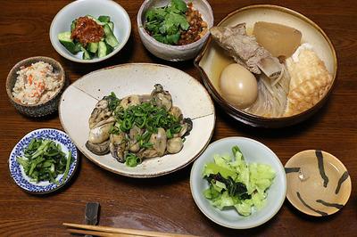 岡山の日生町でカキオコを食べた日の晩ご飯