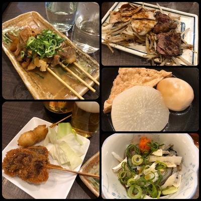 近鉄日本橋の「七津屋」での飲み食い