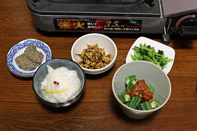 ホルモン鍋と食べたアテ