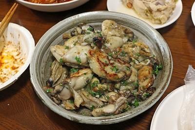 ishさん作の「牡蠣のガーリックバター炒め」