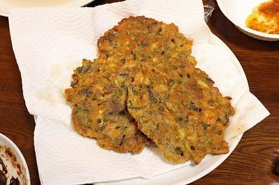こばやしさん作の別館牡丹園式「煎生蠔」・広東風牡蠣のお好み焼