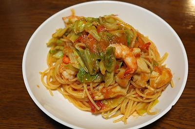 東京で食べられなかったスパゲティを家で