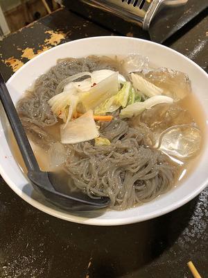 締めに素冷麺