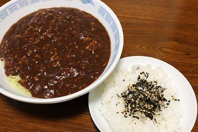 久しぶりの炸醤麺&ライス