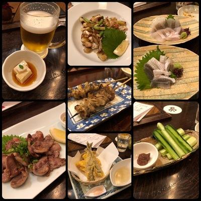 名古屋の居酒屋「梟」で食べた料理