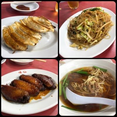 名古屋の中華料理屋「味仙」で食べた料理