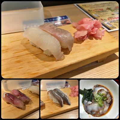 天王寺MiOの「エキうえスタンド」の立ち食い寿司「すしまる」 その1