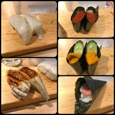 天王寺MiOの「エキうえスタンド」の立ち食い寿司「すしまる」 その2