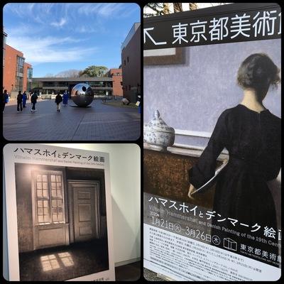上野の東京都美術館で「ハマスホイとデンマーク絵画展」を見学
