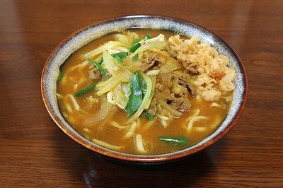 コンニャク麺を「カレーうどん」風に