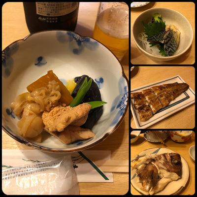 秋の恒例「スタンドアサヒ」@南田辺 前半の料理