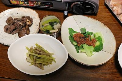 鴨鍋と食べた小鉢類