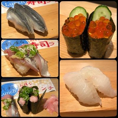 天王寺ミオの立ち食い寿司屋「すしまる」